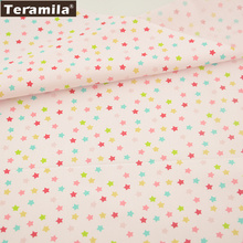 2016 News Colorfull Shining Stars Designs Home Textile  Tela 100% Cotton Fabric Light Pink Twill Fat Quarter Material Patchwork