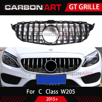 Carbonart C Class W205 GT Front Bumper Mesh Grill Grille Fit for mercedes W205 C200 C300 Sports No/with Camera hole