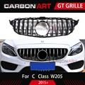 Carbonart C Klasse W205 GT Voorbumper Grill Fit voor mercedes W205 C200 C300 Sport Geen/met camera gat