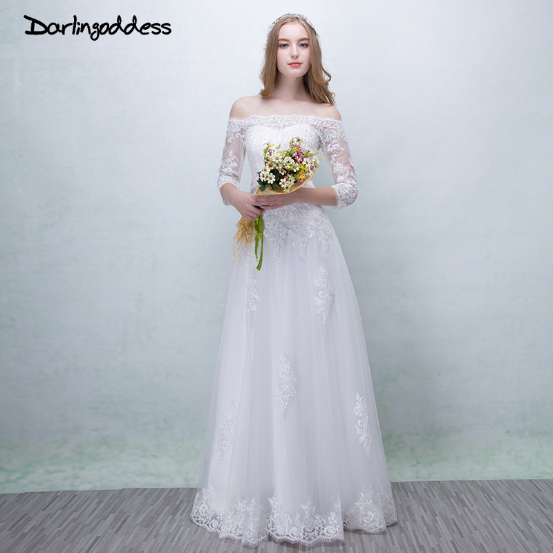 3c3173ecae Darlingoddess Robe De Mariee Beach Wedding Dress 2018 Purple Off The Shoulder  Lace Up Sleeveless Bridal ...