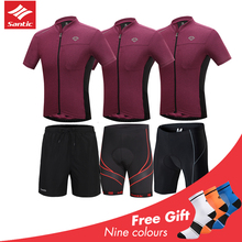 2019 Santic Men Cycling Jersey Set Quick Drying Bike Clothing Pro MTB Base Layer Maillot Cycling Clothing Ropa Ciclismo Hombre цены