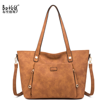 BRIGGS Vintage Large Capacity Women Bags Shoulder Tote Bags bolsos New Women Messenger Bags Famous Leather Handbags For Lady все цены