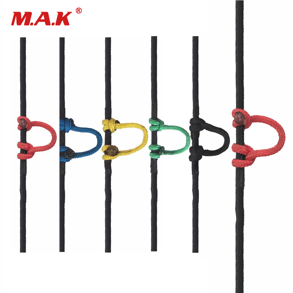 5 Color Compound Bow D Ring Rope 18m Release String Nocking Buckle Rope Bow Release U Rope Release Aid Archery Accessories