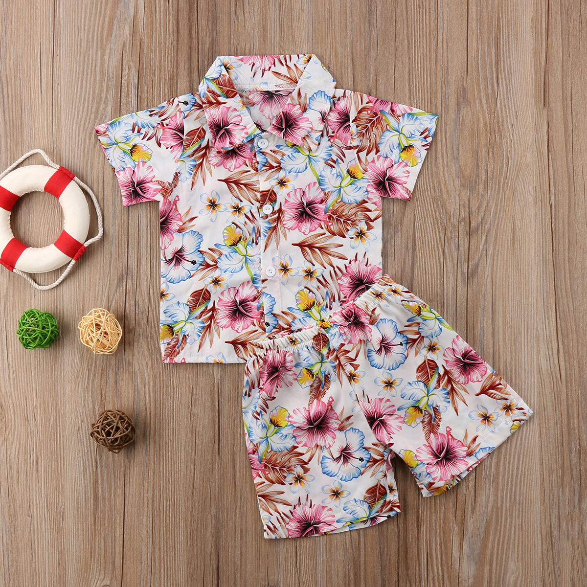 Clothing Sets Lovely 2018 New Toddler Kids Baby Boy Floral Tops T Shirt Shorts Beach Outfits Clothes Mon Handsome Summer Cute Fashion Ch