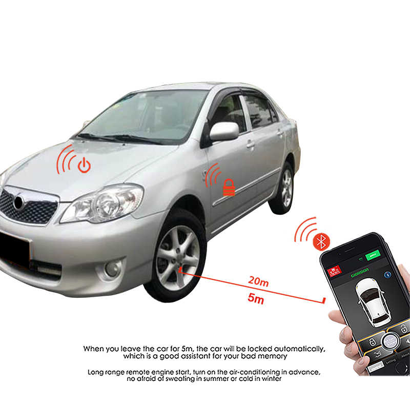 Sistema de entrada de Keyless PKE alarme de Carro parada Início do arranque auto iniciar a partir do telefone de bloqueio central Central fechadura com chave fob alarme de carro