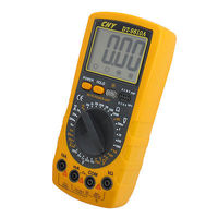 Yellow Gray 200mV-700V AC Voltage Ohm Current Multimeter w 2 Test Lead DT-9810A