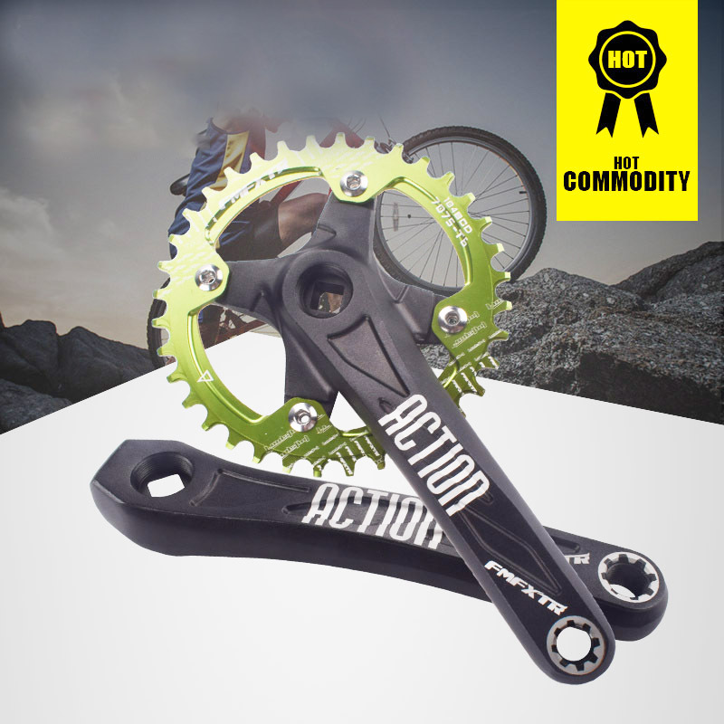104BCD Aluminum Alloy Crank Mountain Bike Crankset Crank Left Right 170mm Compatible Crank Leg Modification Accessories in Bicycle Crank Chainwheel from Sports Entertainment