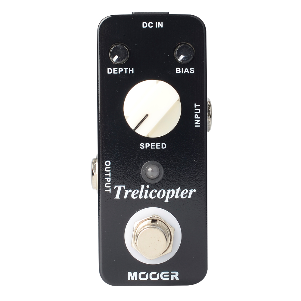 Mooer Trelicopter Tremolo Electirc Guitar Effects Pedal BIAS Knob True Bypass MTR1 mooer ensemble queen bass chorus effects effect pedal true bypass rate knob high quality components depth knob rich sound