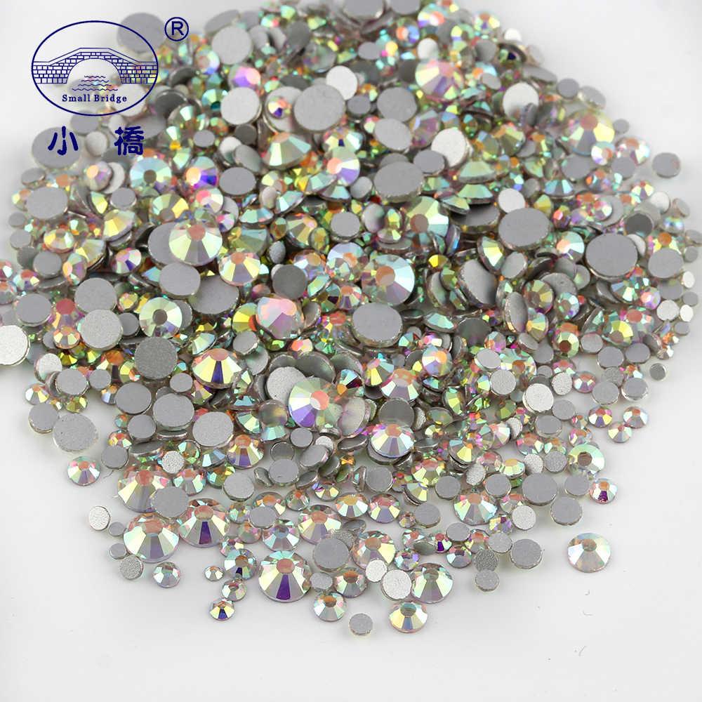1000PCS Mixed Size Flatback Rhinestones For Clothing Round AB Glass  Rhinestones Crystal Nail Art Rhinestones Decoration 3899f5d4ad54
