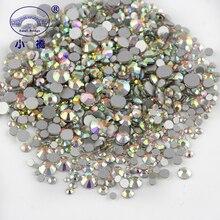 1000PCS Mixed Size Flatback Rhinestones For Clothing Round AB Glass Crystal Nail Art Decoration Z198