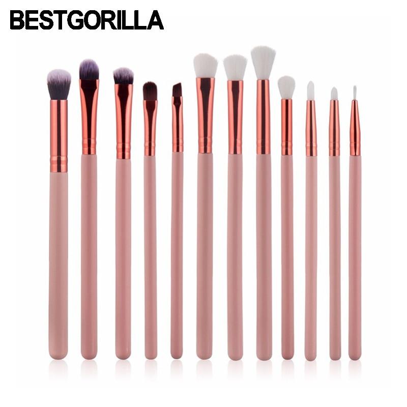 BEST 12pc/set Eye shadow brush Makeup Brushes Set Cosmetic Foundation Eys shadow Blusher Powder Blending Brush beauty tools kits new makeup brush set cosmetic eye shadow