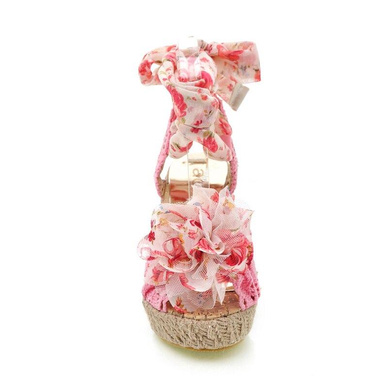 rose Chaussures Fleur Lacets Talons Femmes À Ouvert Pour Noir Hauts Sweety ivoire Dentelle Partie Taoffen Sandales 34 Mélangée Couleur Bout bleu 39 wP1OxBXq