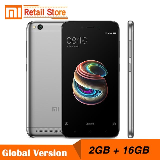 """Глобальная версия Xiaomi Redmi 5A 2 ГБ Оперативная память 16 ГБ Встроенная память 5.0 """"Snapdragon 425 4 ядра мобильный телефон 3000 мАч батарея 13.0 МП смартфон"""