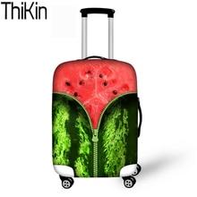 THIKIN Apsauginiai apvalkalai lagaminams Vaisių kelionių bagažo lagaminio dangčio užtrauktukų kostiumai Tiršti 18-30 colių talpos krepšys dėklas