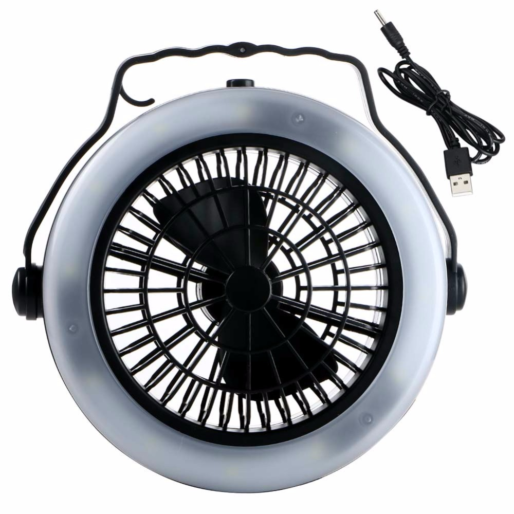 Portable Rechargeable LED Fan Light Mini Air Cooler Outdoor C&ing Tent L& Hanging Hook Lantern USB Rechargeable / AA Battery-in Portable Lanterns from ...  sc 1 st  AliExpress.com & Portable Rechargeable LED Fan Light Mini Air Cooler Outdoor ...
