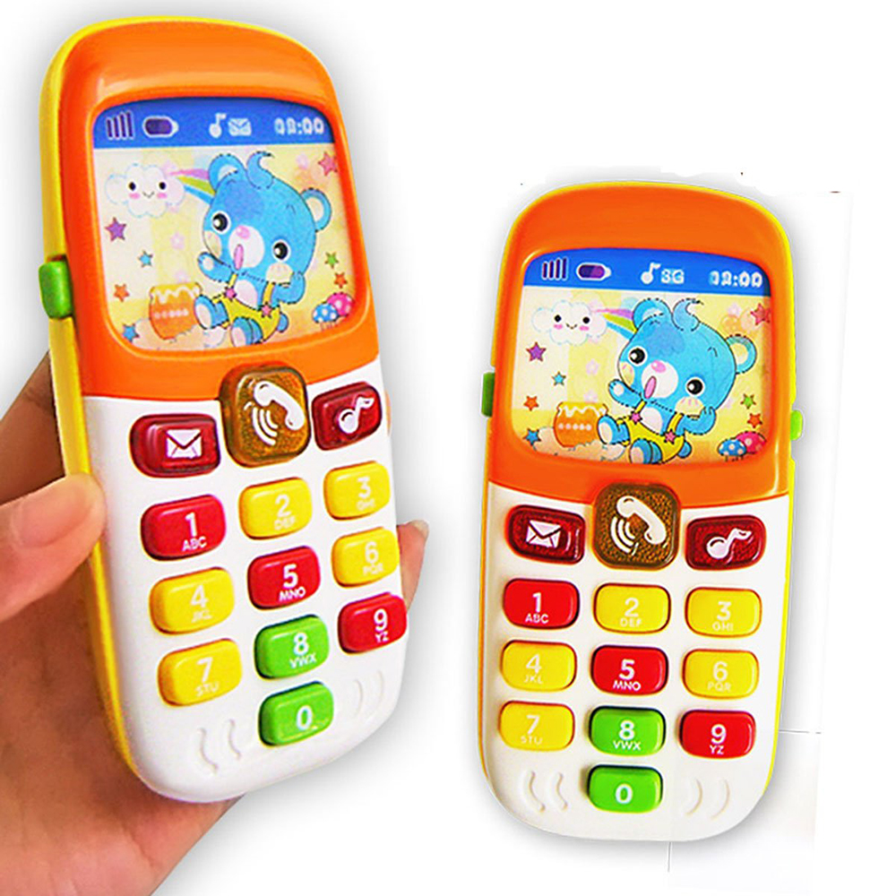 Vocal Toys Electronic Toy Phone Kid Mobile Cellphone Telephone Educational Learning Toys Music Baby Infant Best Gift For Kid Fun
