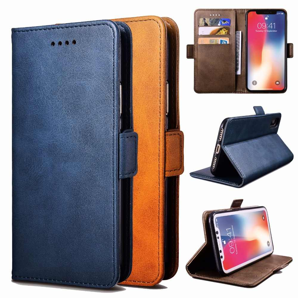 High Quality Style HUAWEI Honor Play 8A Phone Case Luxury Leather Flip Wallet Brack Simple Protective Cover for Honor Play 8A