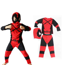 Meninos traje Deadpool crianças dos miúdos superhero cosplay trajes de halloween para as crianças do partido do vestido extravagante completa bodysuit atacado