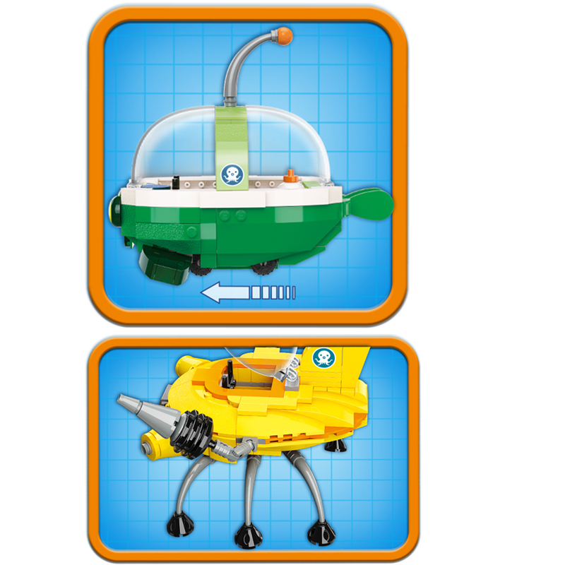 NEW ENLIGHTEN Creator Ideas GUP K Crocodile Rescue Ship Octonauts Building Blocks Model Sets Kids Toy Compatible Duplo in Blocks from Toys Hobbies