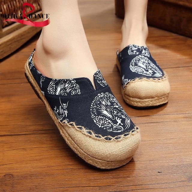 Femmes sandales d'été de sport brodées chaussur... MRG9nJ