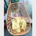 Младенца вязания крючком Гамак Фотография Реквизит Новорожденный Костюм Сна Малыша Кровать Открытый абы кроватки детская кроватка детская детская спальная кровать