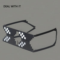 New Arrival Deal With It Sunglasses Men Minecraft Polygonal LOL Thug Life Shades Women 8 Bits