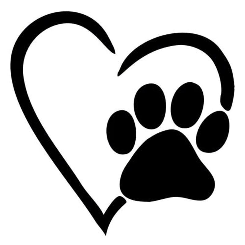 Download Aliexpress.com : Buy 12.6*12.7CM I Love My Dog Heart Paw ...