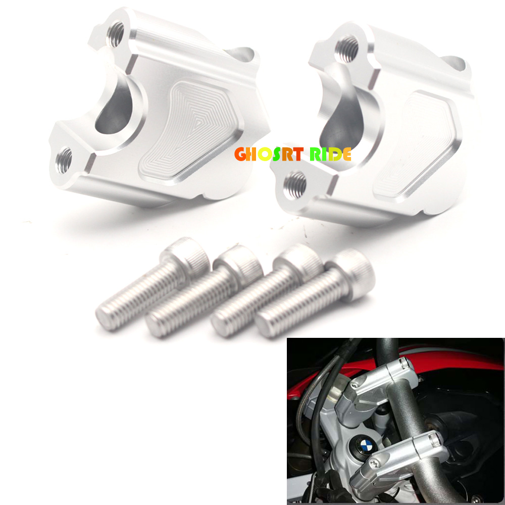 CNC Motorcycle Accessories Handlebar Riser Kit Moves Bar Up Aluminum Alloy For BMW 2008-2015 2016 2017 F800GS F650GS waase motorcycle 2 pcs handlebar riser up 25mm backs moves 20mm bracket kit for bmw s1000r s 1000 r 2014 2015 2016