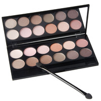 High Quality Charming 12 Color Qibest Professional Eyeshadow Palette Makeup Q1624 Natural Long Lasting Beauty Make