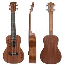 Kmise Concert Ukulele Uke Acoustic Hawaiian Guitar 23 Inch 18 Frets with sapele