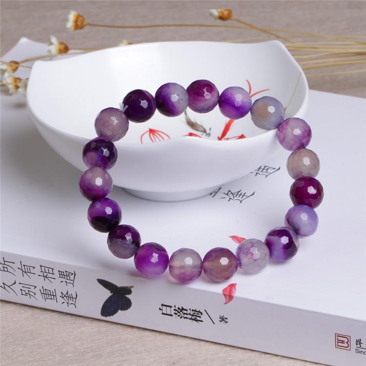 Фіолетовий натуральний агат - Вишукані прикраси