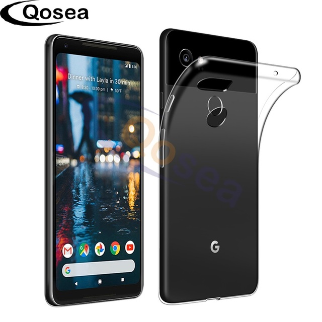 Qosea For Google Pixel 2 XL Case Shockproof Slim Silicone TPU Skin For Google Pixel 2 XL Protective Ultra Clear Back Capa Cover