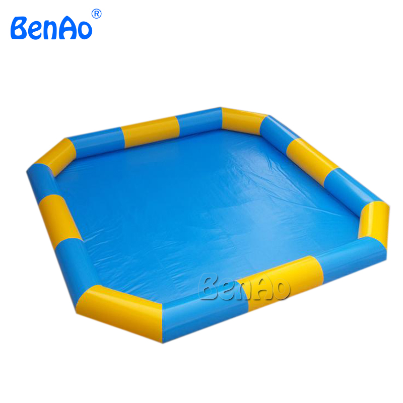 WB016  8m*8m water pool, swimming pool  fit for 8-15pcs water ball  0.6mm PVC  Repair kits for free environmentally friendly pvc inflatable shell water floating row of a variety of swimming pearl shell swimming ring