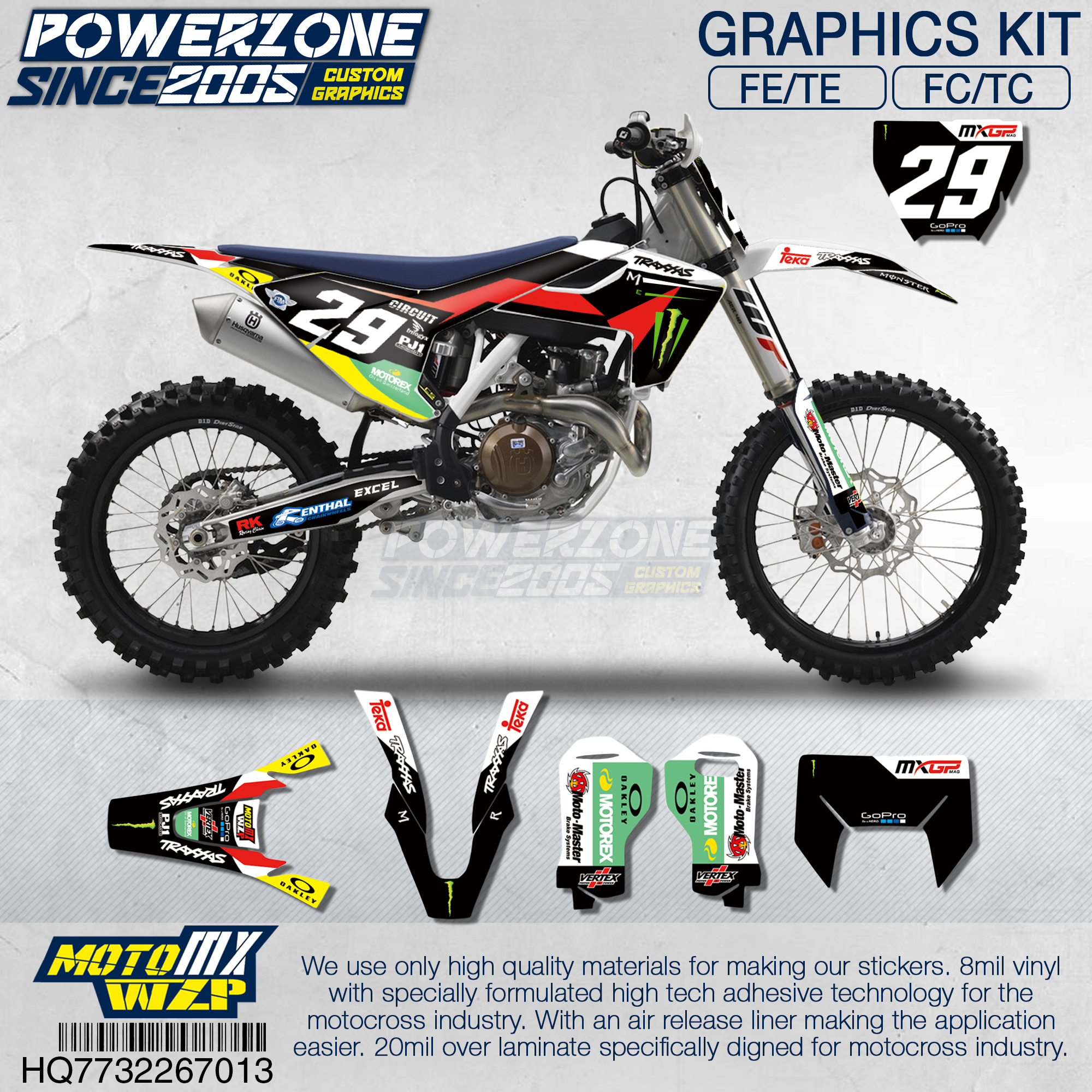 Customized Team Graphics Backgrounds Decals 3M Custom Stickers Kit For Husqvarna 2014 19 FE TE FC