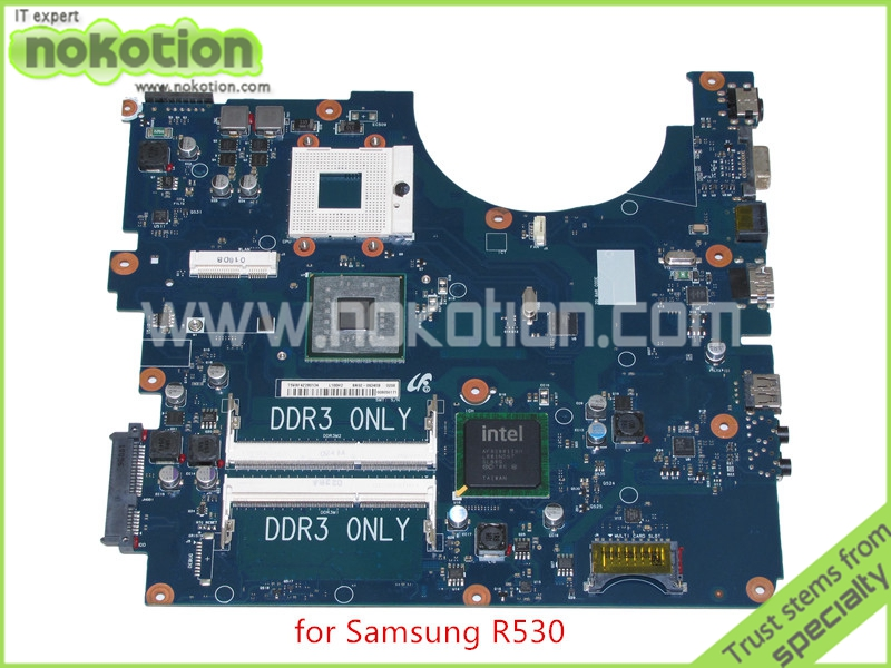 NOKOTION BA41-01223A BA92-06340B BA92-06340A for samsung R530 laptop motherboard GL40 DDR3 only nokotion for samsung r530 laptop motherboard ba92 06346a ba92 06346b ba41 01227a pm45 gt310m ddr3