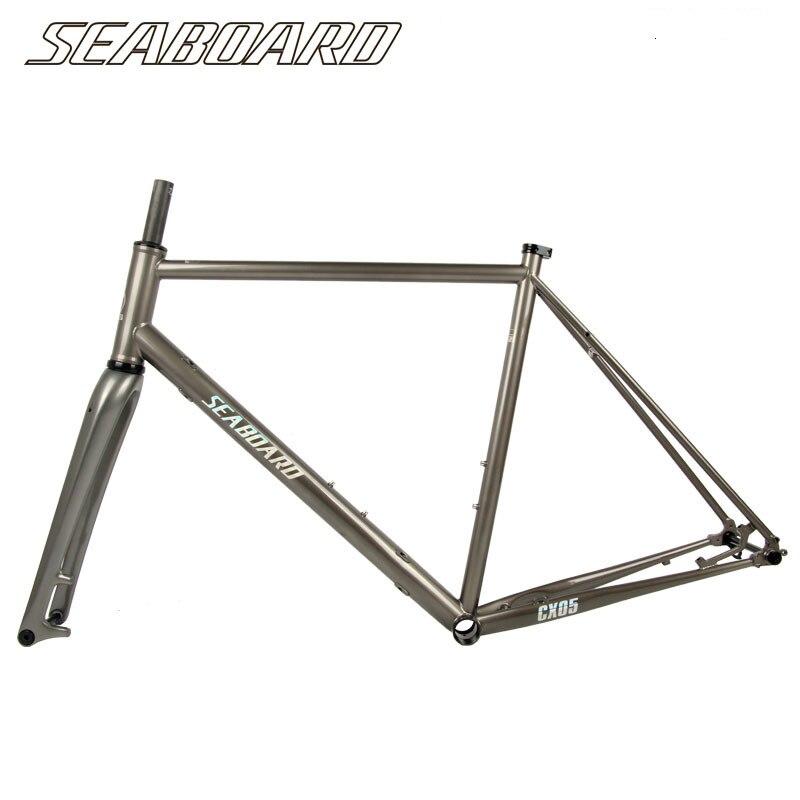 Seaboard Tsunami Chromoly Steel Road Bike Cyclocross Frameset Frame Carbon Fork Thru Axle Cr-mo Steel CX Gravel 700C Frame