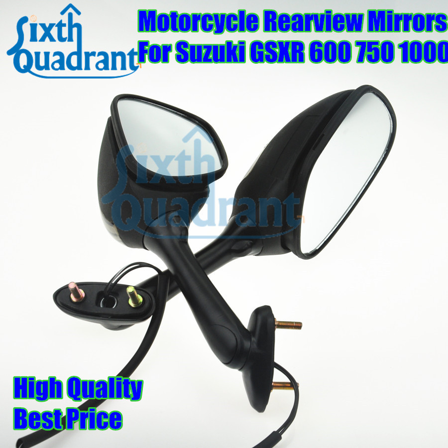 Motorcycle gloves gsxr - Free Shipping New Arrival Motorcycle Rearview Mirrors Side Mirror With Turn Signal Lights Fit For Suzuki