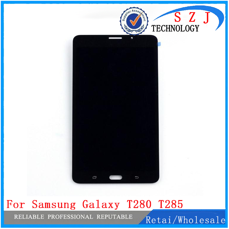 New case For Samsung Galaxy Tab A 7.0 T280 T285 LCD Display Monitor + Touch Panel Screen Glass Digitizer Assembly Replacement brand new 30pcs wholesale price for samsung galaxy s7 edge g935 g9350 g935f g935fd lcd display touch screen free dhl 3 color