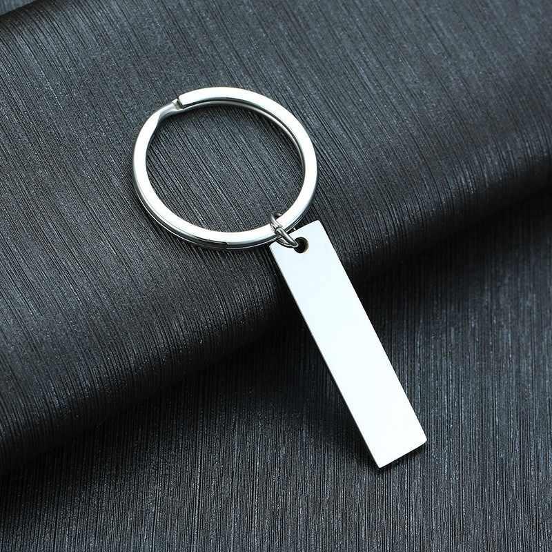 แรงบันดาลใจบาร์พวงกุญแจมีความกล้าและเป็นแบบอย่าง Hand Stamped เครื่องประดับ Silver Filled ของขวัญ Unisex