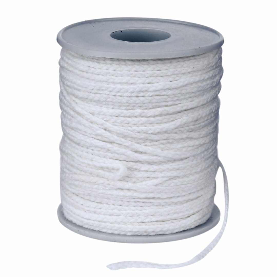 New Spool of Cotton Square Braid Candle Wicks Wick Core 61m x 2.5mm For Candle Making Supplies