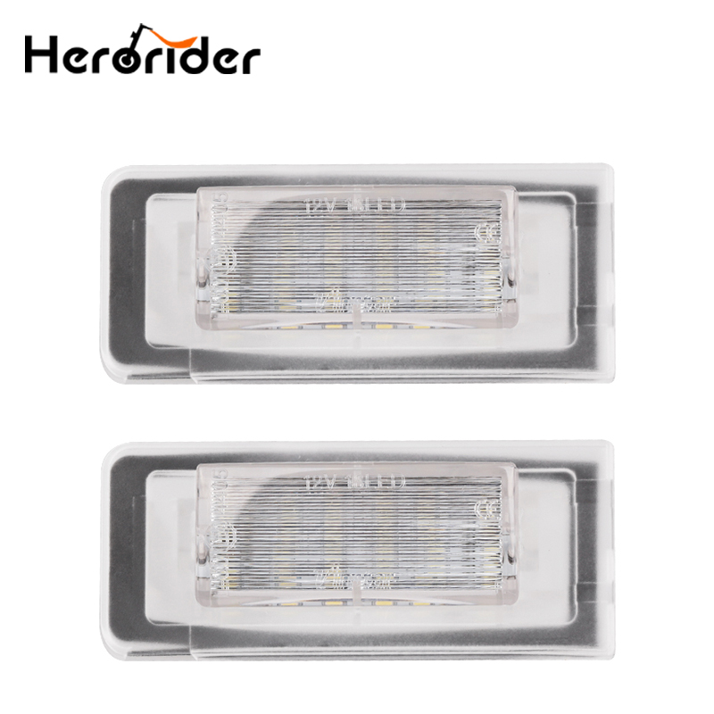 2pcs LED license Plate Light For Audi TT 8N 1999~2006 Replacement Auto Lamp Canbus Error Free Super Bright cawanerl car canbus led package kit 2835 smd white interior dome map cargo license plate light for audi tt tts 8j 2007 2012