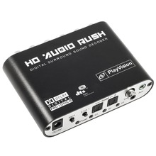 Digital to Surround Analog Audio Decoder 2.1/5.1 Channel DTS/AC-3 Sound Decoder DTS/AC3 to 5.1 Stereo Audio Decoder