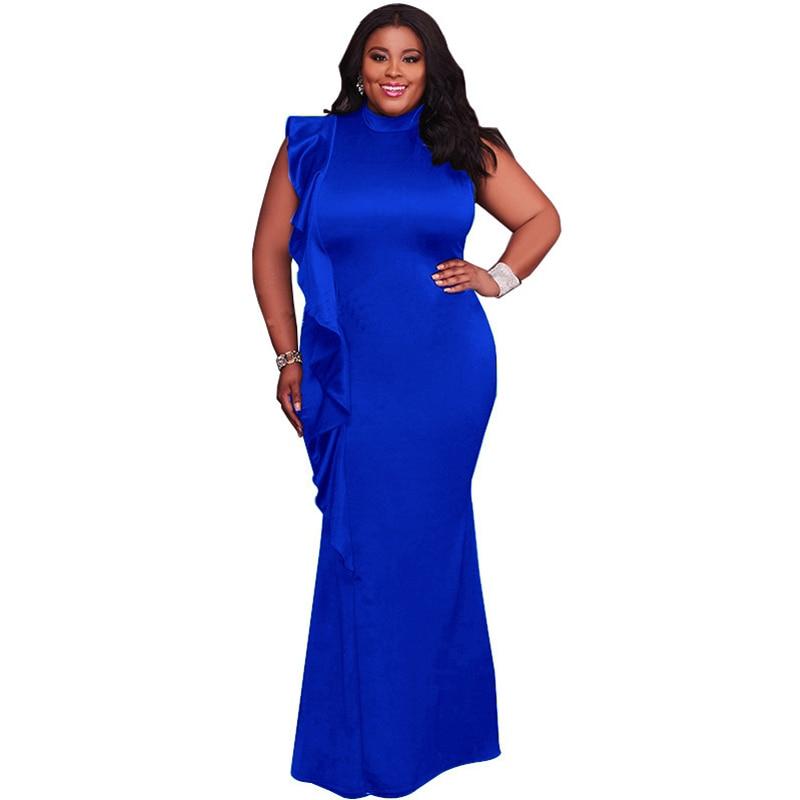ec0c6d5144 Evening Party Elegant Women's Long Dress Plus Size 3XL 4XL Formal Vestidos  De Festa Bodycon Maxi
