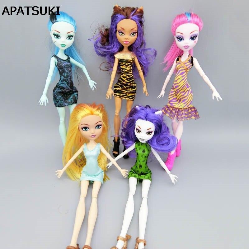 Модные свадебные платье для Monster High Куклы вечернее платье vestidos одежда для Монстр Кукла малыш игрушки ...