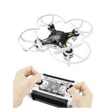 FQ777 124 RC Drone kieszeń 4CH Mini Drone 6 osi żyroskopu zabawki helikoptery mały quadcopter przełączane kontroler/3D etui z klapką tryb bezgłowy