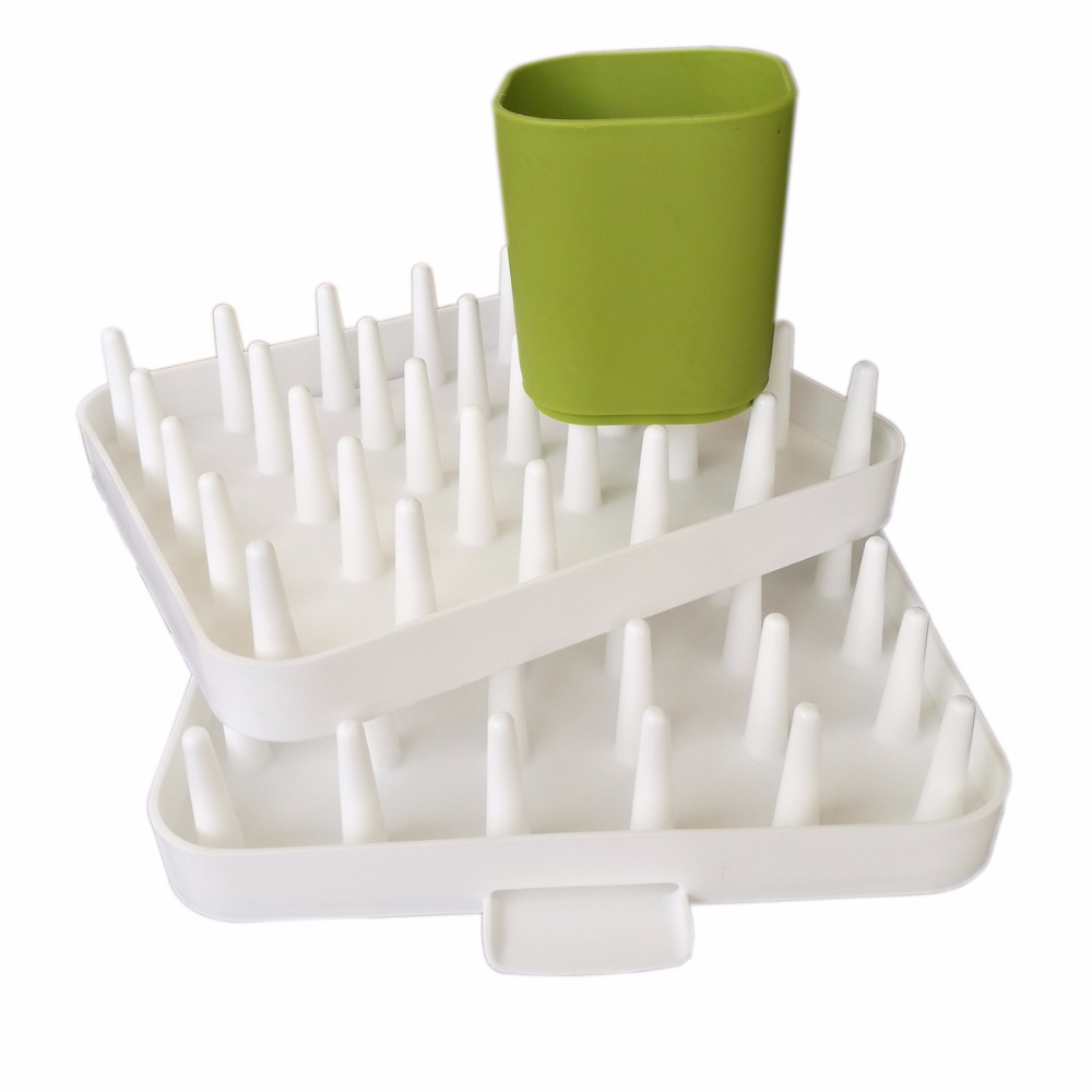 Hot Sales plastic Adjustable Cutlery Dishes Rack Draining Tableware Storage Holder Rack kitchen organizer ...