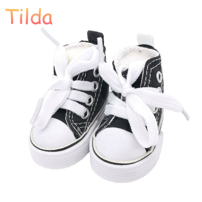 Tilda 5.5cm Canvas Sneakers For Dolls Paola Reina Minifee Corolle,Toy Bjd Doll Sports Shoes for EXO KPOP Stuffed Dolls Toys