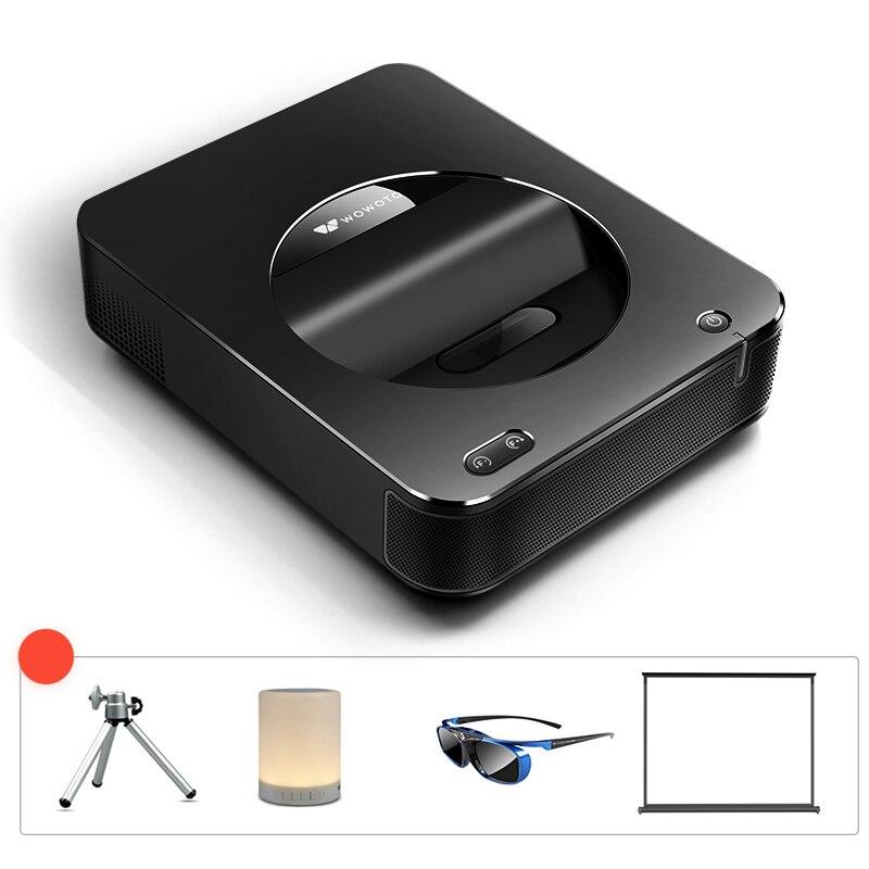 WOWOTO Bluetooth Projektor Elektro Fokus 4K Auflösung Wi-Fi Projektor 600ANSI LED Tragbare HD für Home Cinema Fenster System s6