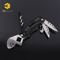 BeHelper Multifunction Adjustable Wrench Screwdriver Set Folding Knife Jaw Opener Spanner Repair Tool For Nuts Bolts
