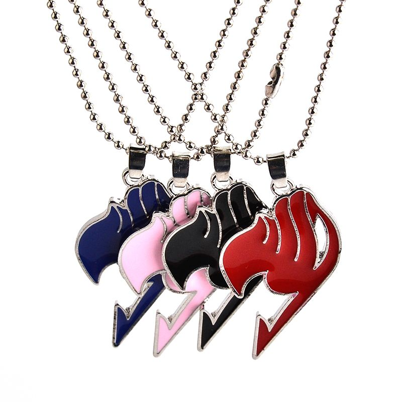 New blue black pink red color Fairy Tail anime logo pendant necklace Fairy Tail animation fans necklace jewelry gift wholesale ヒステリック ミニ 高 画質